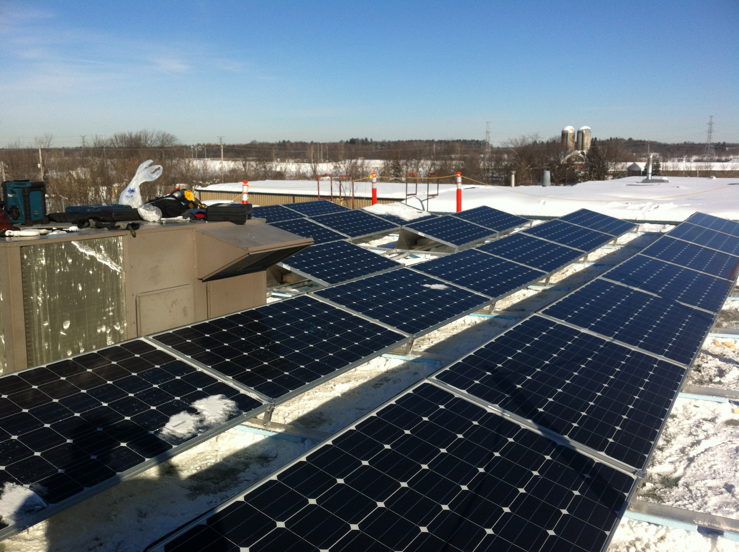 10 KW commercial solar install